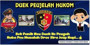 """Sat Reskrim Polres Aceh Besar Gelar Kegitan Sosialisasi Pelayanan Masyarakat"""" Duek Peujelah Hukom"""""""