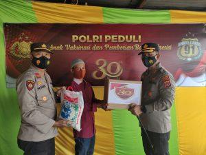 Jajaran Polres Polda Aceh, Gelar Vaksinasi Dan Baksos Dalam Rangka 30 Tahun Pengabdian Batalyon Bhara Daksa Akpol 91
