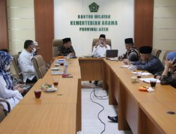 Kemenag Aceh dan Dinas Pendidikan Dayah Bahas Persiapan Hari Santri 2021