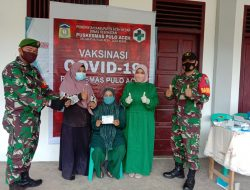 Personil Jajaran Kodim 0101/Aceh Besar Terus Dampingi Vaksinasi di Wilayah