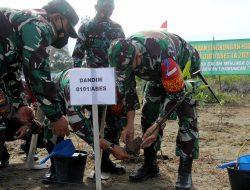 Peduli Lingkungan Hidup, Kodim 0101/Aceh Besar Tanam Ratusan Bibit Pohon Mangrove